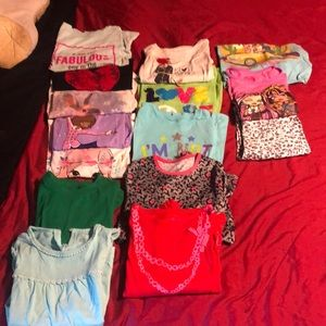 Girl shirts and. Leopard crop pants